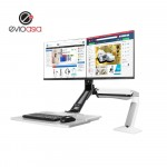 "Dual Monitor Sit Stand Plus Keyboard 17"" to 27"""